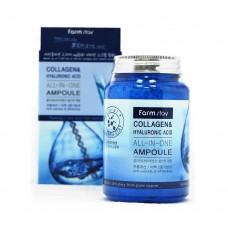 Ампульная сироватка з колагеном і гіалуронової кислотою FARM STAY Collagen & Hyaluronic Acid All-In-One Ampoule