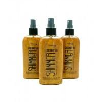 Кокосове масло для засмаги з шимером Top Beauty Coconut Oil Shimmer 200 мл