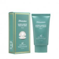 Сонцезахисний крем з колагеном JMsolution Marine Luminous Pearl Sun Cream Pearl SPF50 PA ++++ 50 ml